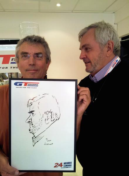 Caricature Lehnart 24 h du Mans, caricaturiste 24 h du Mans