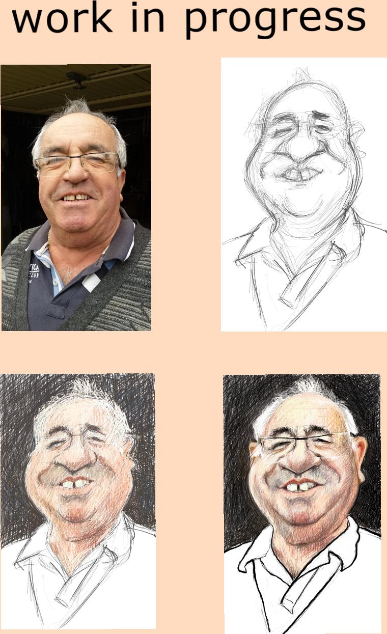 Caricatures numériques, avec la surface Pro 4 et Sketch Book Pro...